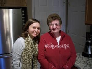 Grandma and I making fudge!